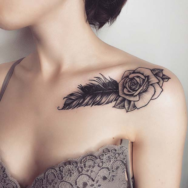 Fearless Tattoo On Collarbone