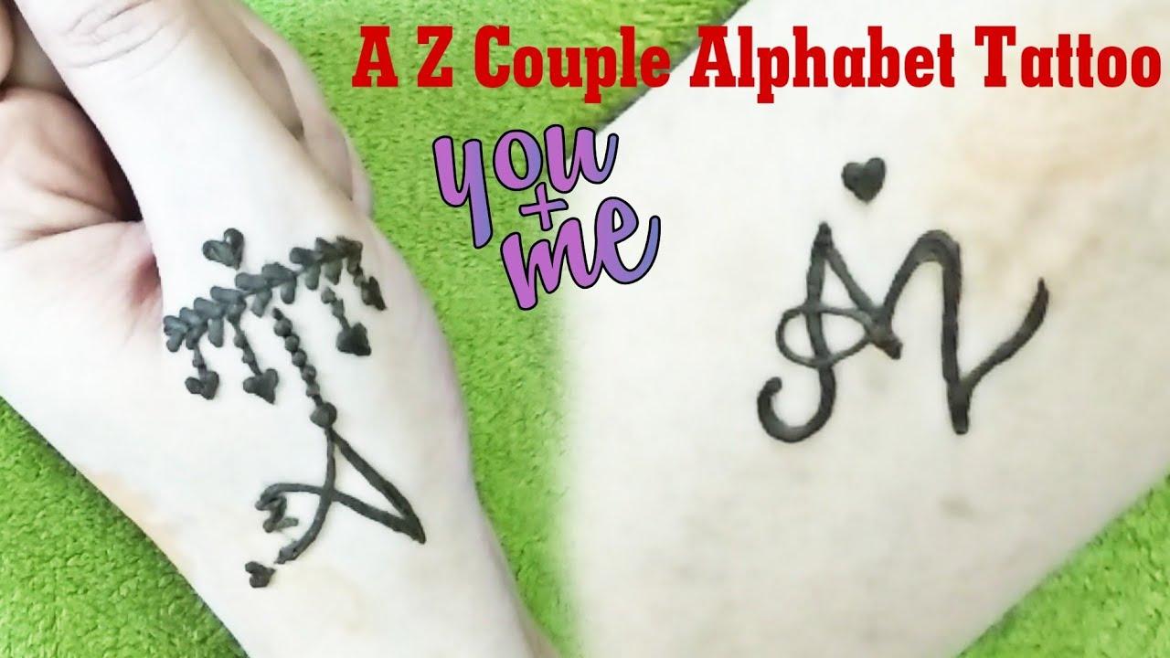 A Z Couple Love Tattoo Design For Girls Boys Stylish Tattoo Mehndi Design Alphabet Tattoo Design Tattoo Blog